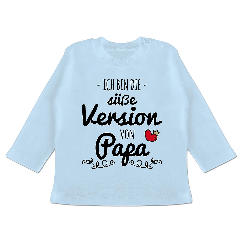 Baby T-Shirt Langarm Spr/üche Baby Ich Bin die s/ü/ße Version von Papa