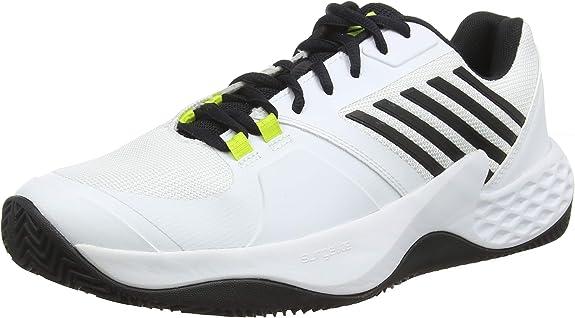 K-Swiss Performance Aero Court HB, Zapatillas de Tenis para Hombre, Blanco (White/Black/Neon Yellow 124M), 49 EU: Amazon.es: Zapatos y complementos