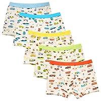 De feuilles Chic-Chic Boxer Slip Lot DE 5 Garçon Bébé Enfant Culotte Pantalon sous-Vêtement en Coton Motif Mignon Voiture