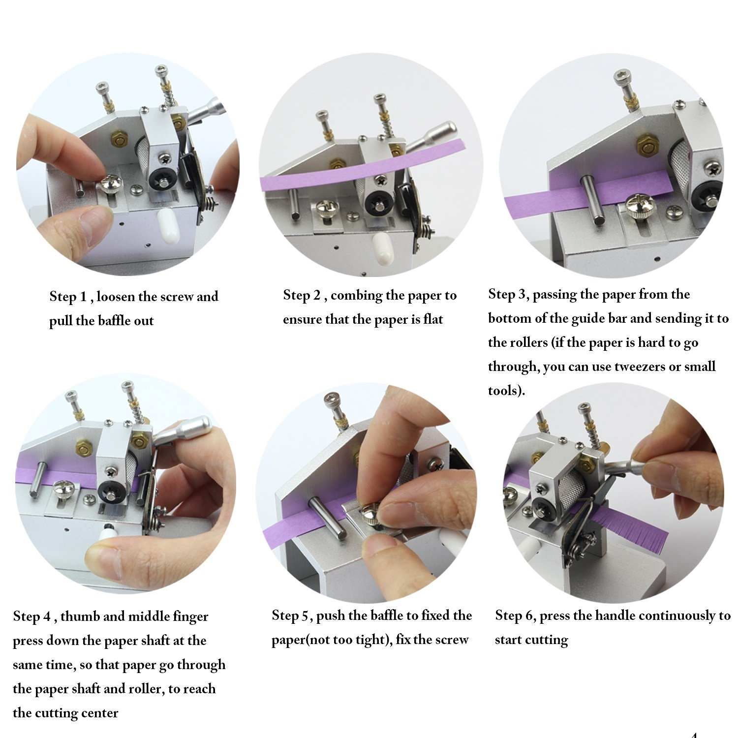 IMISNO Mini Craft Quilling Fringer Quilling Flower Making Tools Paper Tassel Cutting Machine by IMISNO (Image #5)
