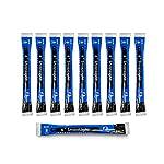 "Cyalume SnapLight Industrial Grade Chemical Light Sticks, Blue, 6"" Long, 8 Hour Duration (Pack of 10)"
