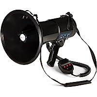 auna - MEGA080USB, Megáfono, Micrófono de Mano, Grabadora
