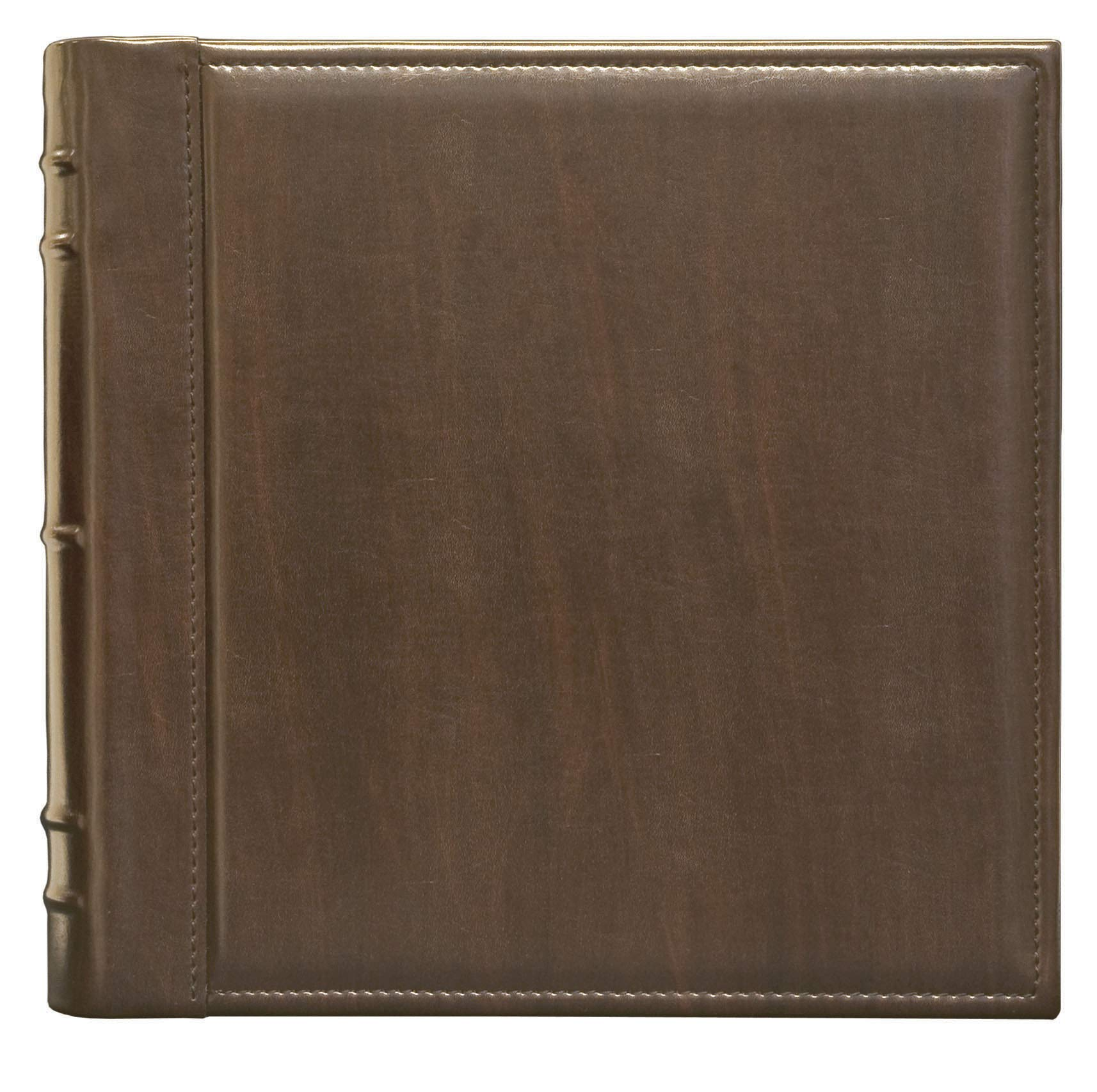 Innova Editions Bookbound, Photo Album Contains 40 13x13 Sheets (80 Pages), Darkbrown by Innova Editions