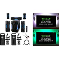 Rockville Bluetooth Home Theater Karaoke Machine System w/8' Subwoofer + LED'S