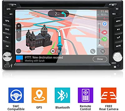 Doble DIN YUNTX Car Stereo In Dash Navegación GPS con Video ...