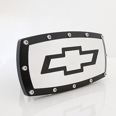 CarBeyondStore Chevrolet Black Trim Billet Aluminum Tow Hitch Cover: Automotive