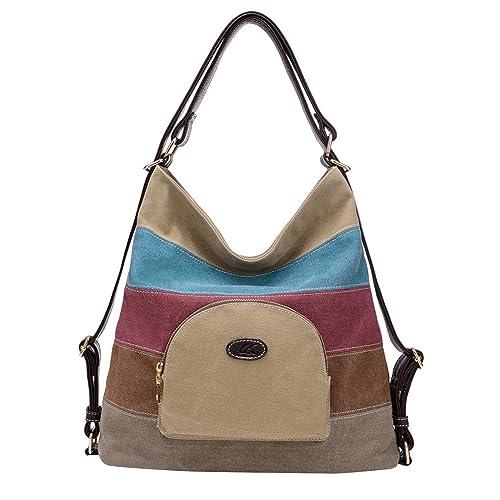 f9669041f68d NOTAG Women's Shoulder Bag Canvas Multifunction Hobo Bag Casual Backpack  Purse Multi-Color Tote Handbags Satchel