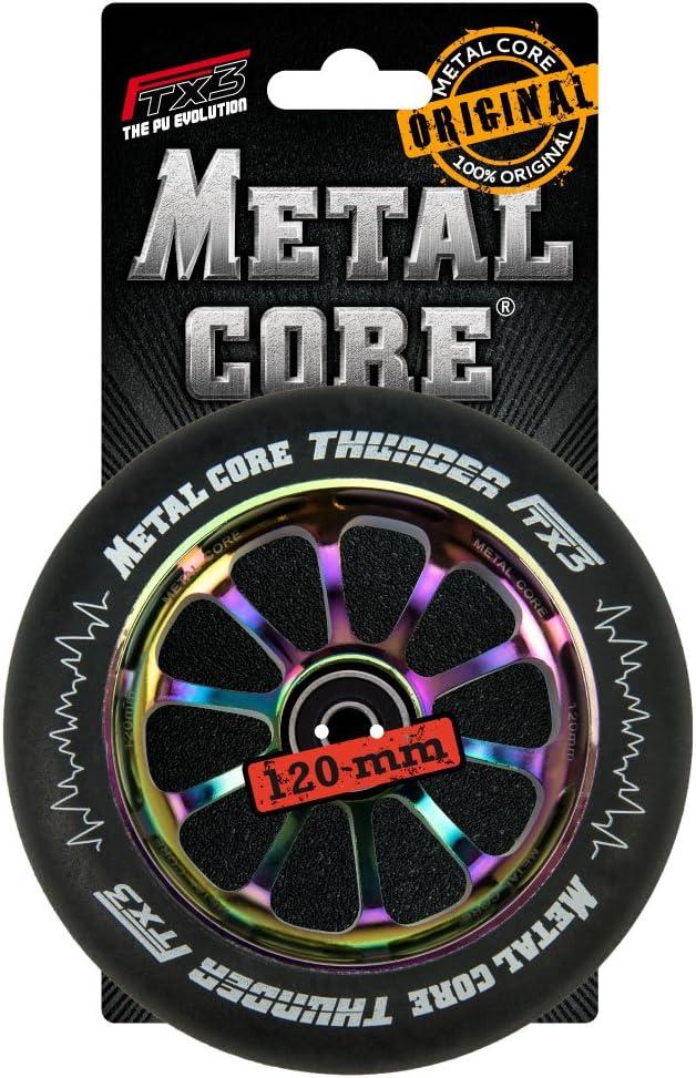 Di/ámetro 120 mm Metal Core Rueda Thunder Black para Scooter Freestyle