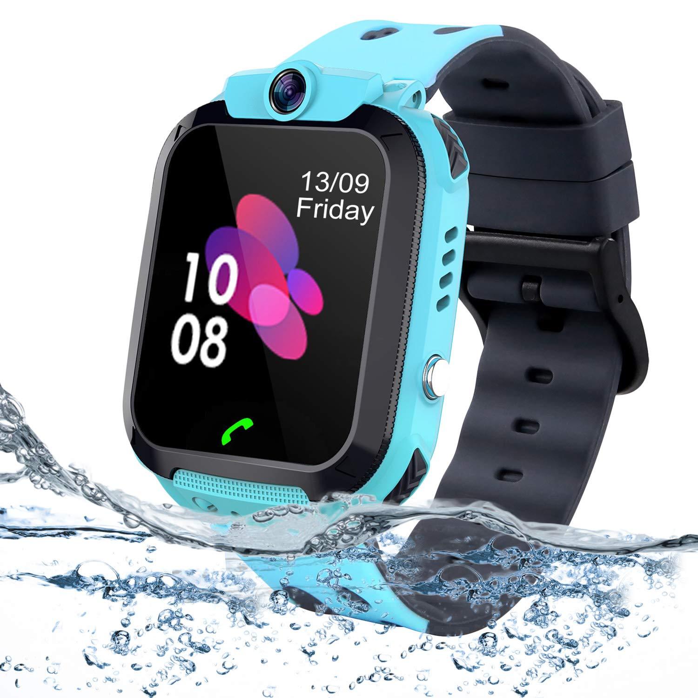 bhdlovely Niños Smartwatch - Reloj de Pulsera Inteligente con Ubicación LBS Reloj Despertador SOS Reloj Digital Cámara Juegos para Niños compatibles ...