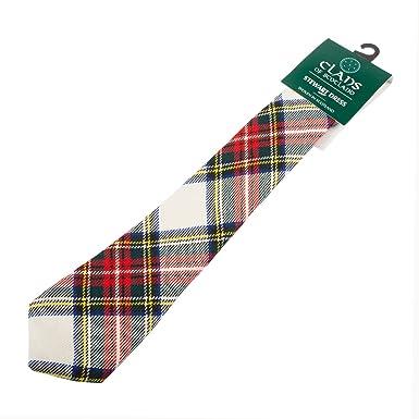 Corbata tartán Clanes de Escocia para hombre STEWART DRESS: Amazon ...