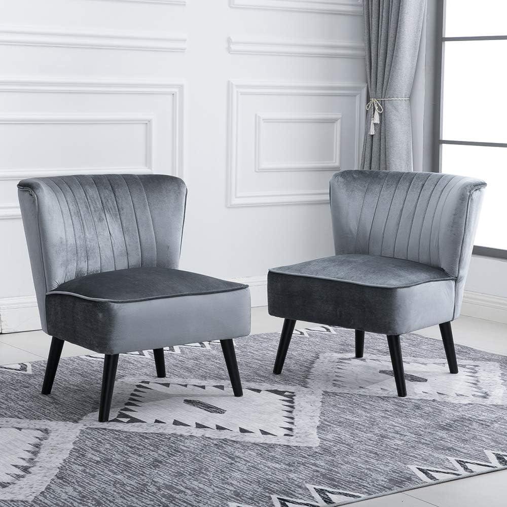 BOJU Pair Living Room Sofa Side Chair Wingback Accent Chair Tub