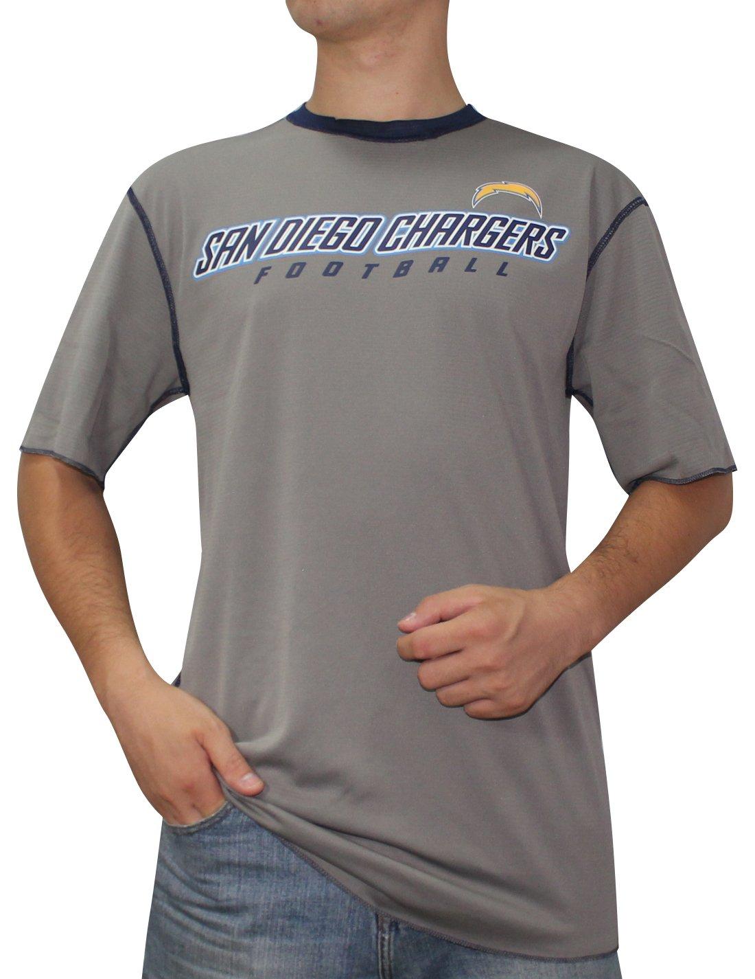 SD Chargers :メンズ半袖リバーシブルDri - Fit Tシャツ XL Grey&DarkBlue B0758VY18J