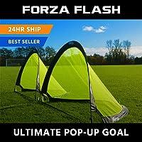 Net World Sports Forza Flash Pop-Up Fußballtor (Paar), verfügbar in 0.76m, 1.21m & 1.82m für sofortigen Spaß!