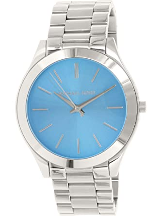 Image Unavailable. Image not available for. Color  Michael Kors MK3292  Women s Slim Runway Blue Dial Stainless Steel Bracelet Watch a8da016969