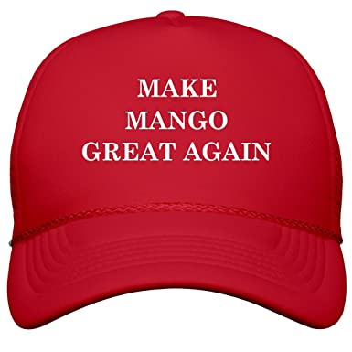 58b92efc72d Amazon.com  Make Mango Great Again  Film and Foil Solid Color Snapback  Trucker  Clothing