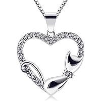 B.Catcher Corazón Collar Mujer Plata de Ley 925
