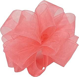 "product image for Offray Berwick LLC 424230 Berwick Simply Sheer Asiana Ribbon - 5/8"" W X 25 yd - Rose Pink Ribbon"