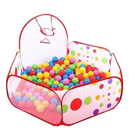 Piscina de bolas infantil Ozean, con pequeña canasta de baloncesto ...