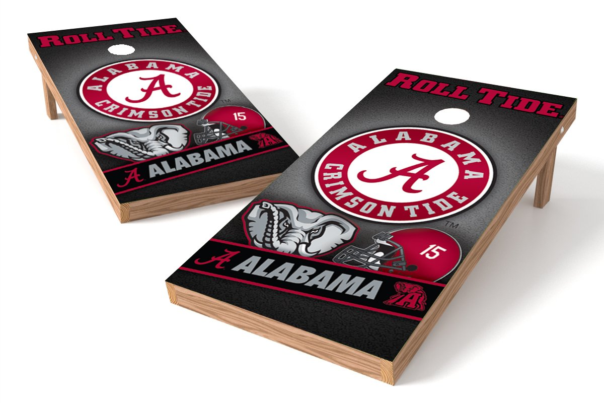 Wild Sports NCAA College Alabama Crimson Tide 2' x 4' Authentic Cornhole Game Set
