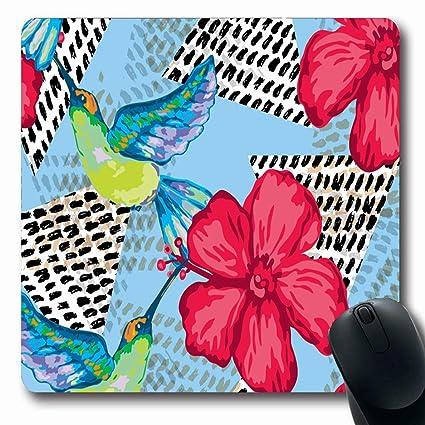 Amazoncom Ahawoso Mousepads For Computers Summer Hawaiian Colibri