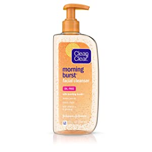Clean & Clear Morning Burst Facial Cleanser with Bursting Beads, 8 Ounce