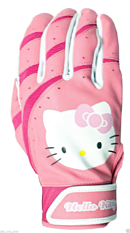 Hello Kittyバッティング手袋サイズM / L B00K4ELAEM