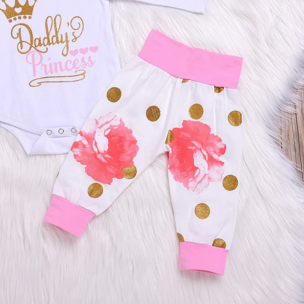 Memela 3 Pieces Baby Clothing Set Daddys Princess 0-18 Mos Buy The Outfit