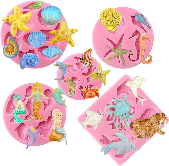 Silicone mold theme animals magic