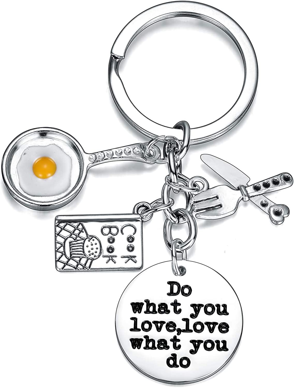 Chef Keychain Chef Key RingCharm Keychain Creative Gift Kitchen Utensils Pendant Key Chain Key Chain For Women Men