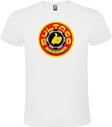 ROLY Camiseta Blanca con Logotipo de Bultaco Hombre 100% Algodón Tallas S M L XL XXL Mangas Cortas: Amazon.es: Ropa y accesorios
