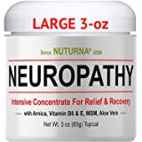 Neuropathy Nerve Pain Relief Cream - Maximum Strength Relief Cream for Feet, Hands, Legs, Toes Pain Reliever, Large 3 oz…