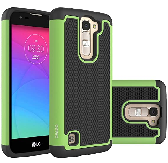 on sale 449c6 065c6 LG K7 Case, LG Tribute 5 Case, LG Treasure Cover Accessories - OEAGO  Shock-Absorption Dual Layer Defender Protective Case Cover For LG K7 / LG  Tribute ...