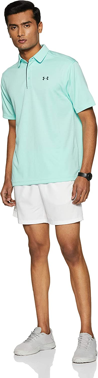 Under Armour Mens Tech Short Sleeves Lightweight and Breathable Polo T Shirt for Men Comfortable Short Sleeve Polo Shirt