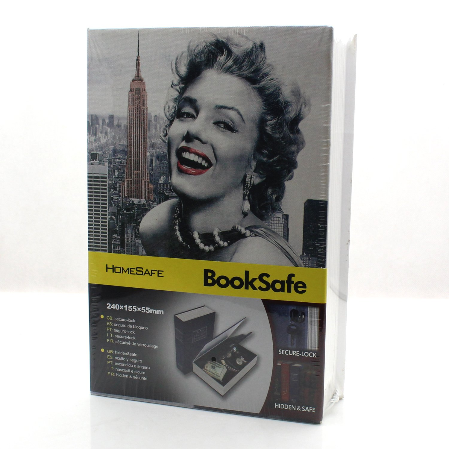 Riipoo(TM) Big Size Colours Dictionary Diversion Hidden Book Safe With Strong Metal Case inside and Key Lock (Marilyn Monroe,Size:24015555 MM)