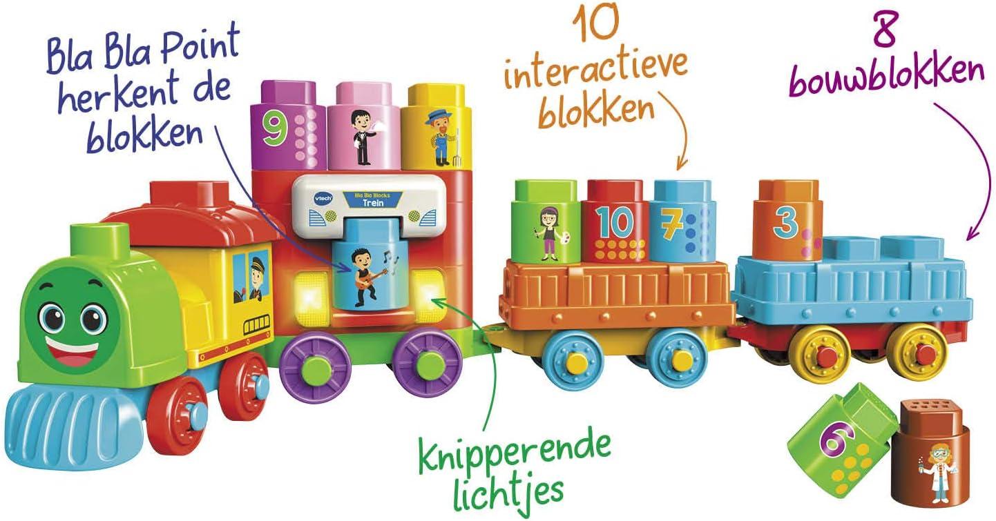VTech Bla Bla Blocks Trein - Juegos educativos (1,5 año(s), 5 año(s), Holandés, De plástico, CE, AAA): Amazon.es: Juguetes y juegos