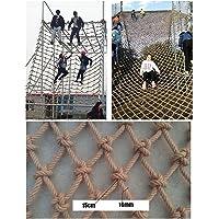 Wwwang Klimnet Gemaakt van hennep touw, brengt de maximale belasting for de Speeltuin, Natuurlijke Jute Materiaal, 16mm…