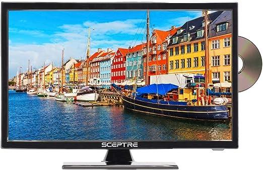 Sceptre E195BD-SRR TV LED de 19 pulgadas, 720P, negro verdadero ...