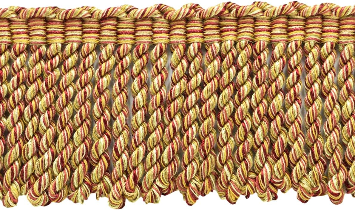 Camel Beige Basic Trim Cord with Sewing Lip|Style# 0038DKL|Color: Ignite N37 D/ÉCOPRO 8 Yard Value Pack|Large 3//8 inch Oak Brown 24 Feet // 7.3 Meters Dark Rust Artichoke Green