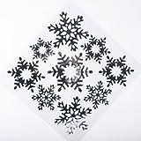Vitrophanies de Noël de flocon de neige avec des paillettes