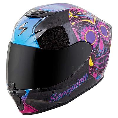 Scorpion Unisex-Adult Full-face-Helmet-Style Sugarskull (Black/Pink, X-Small): Automotive [5Bkhe1013023]