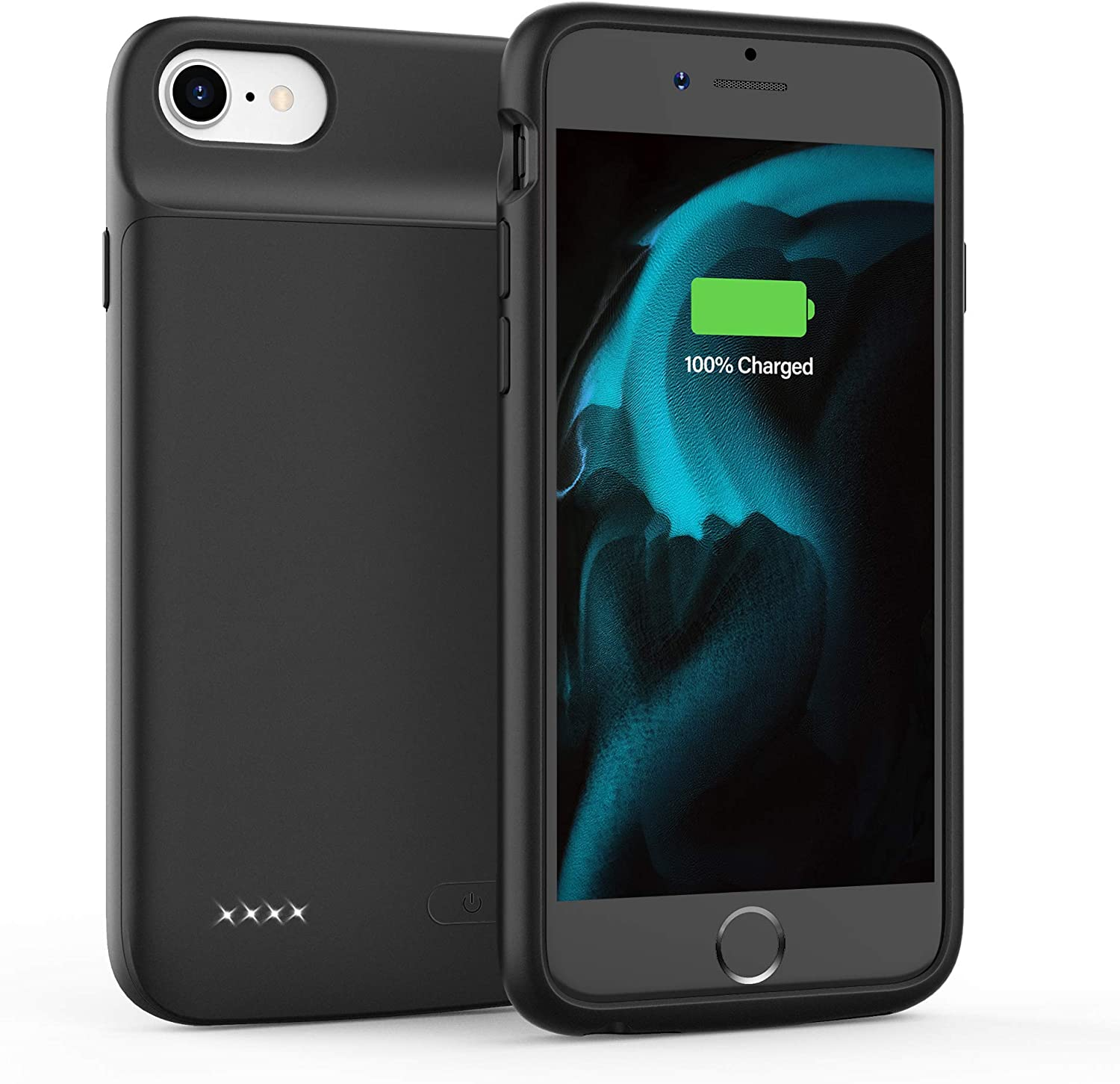 Amazon Com Battery Case For Iphone 6 6s 7 8 Se 2020 Charging Case Protective Charger Case Portable Extended Battery Pack 4 7 Inch Black