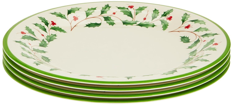 Amazon.com | Lenox Holiday Melamine Dinner Plates (Set of 4) Ivory Plates  sc 1 st  Amazon.com & Amazon.com | Lenox Holiday Melamine Dinner Plates (Set of 4) Ivory ...