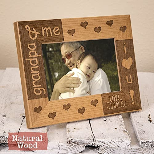 Amazon.com: Grandpa Frame Personalized - Grandfather Picture Frame ...