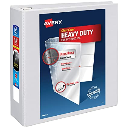 amazon com avery 4 heavy duty view 3 ring binder one touch ezd