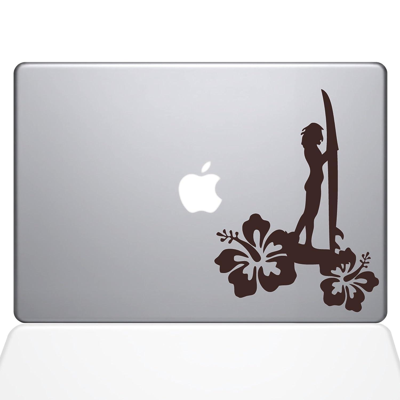 1454-MAC-13A-S The Decal Guru Surfer Girl Aufkleber f/ür MacBook Air 33 cm 13 Zoll