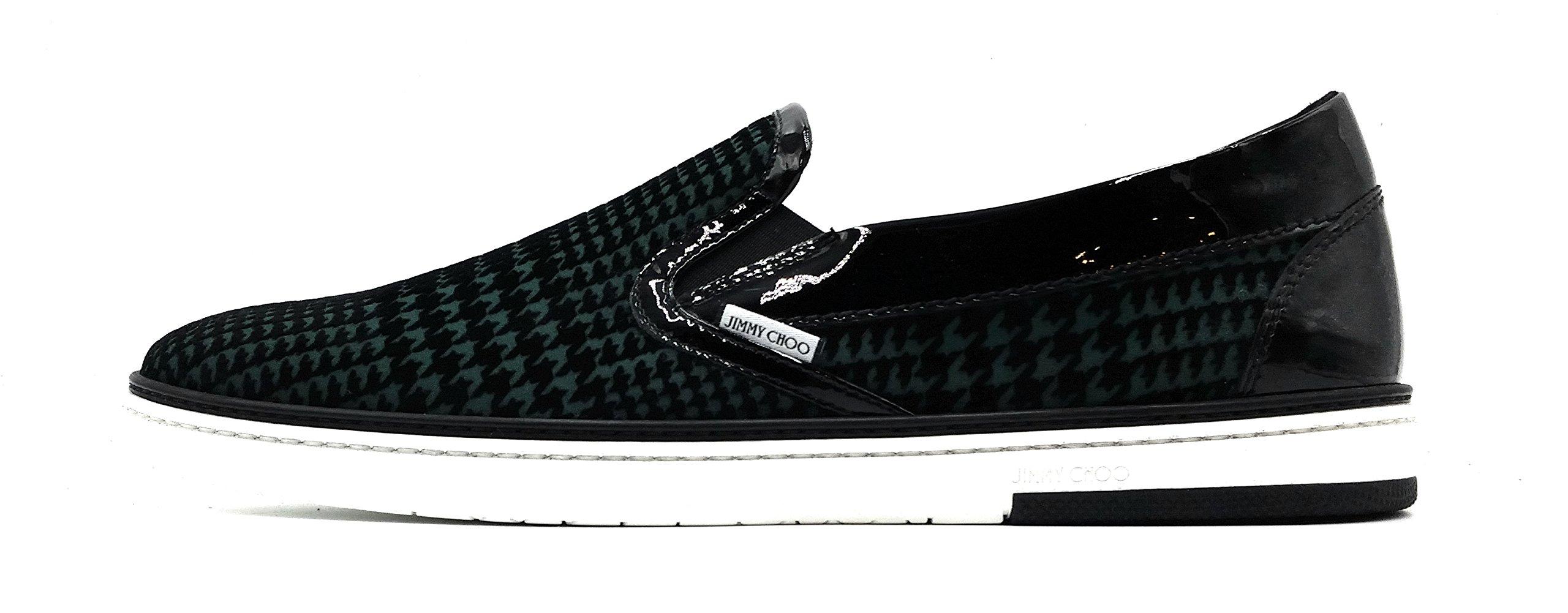 JIMMY CHOO London Flock Houndstooth Skate Sneaker / Loafer (Size 11.5 US / 44.5 EU)
