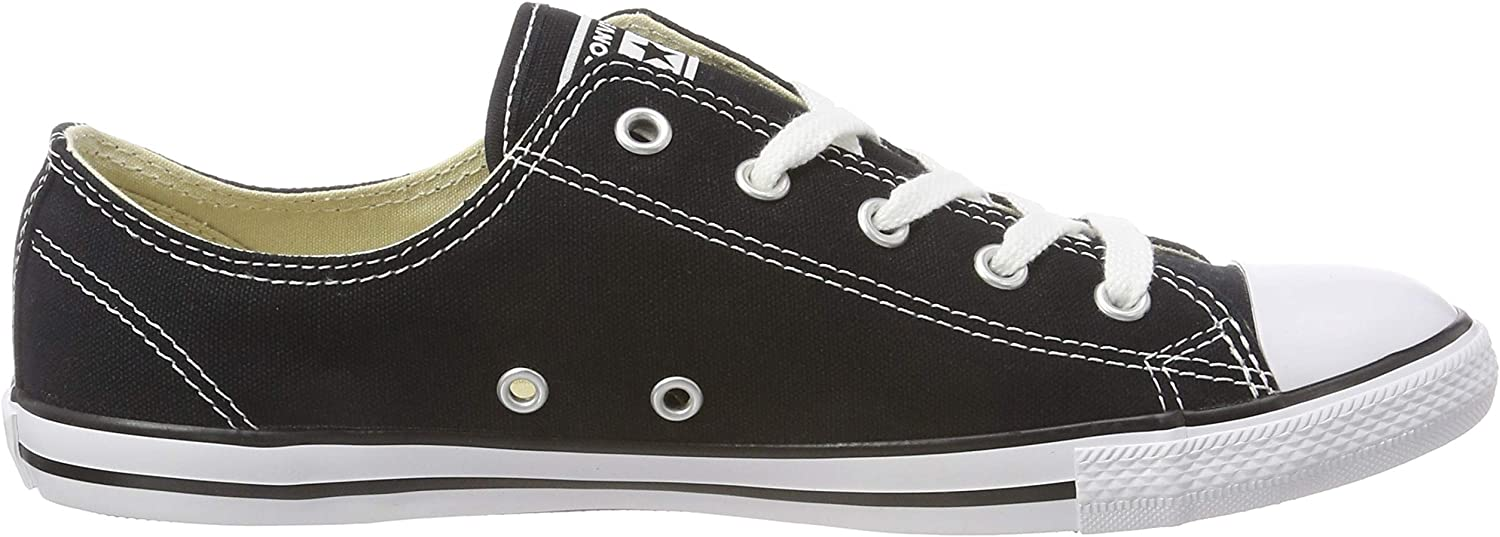 Converse Chuck Taylor CT As Dainty Ox, Sneakers Basses Femme Noir Black 001