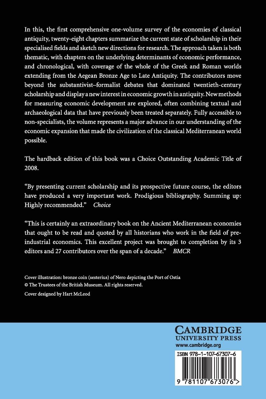 The Cambridge Economic History of the Greco-Roman World: Walter Scheidel,  Ian Morris, Richard P. Saller: 9781107673076: Amazon.com: Books