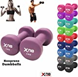 Xn8 Sports Neoprene Dumbbell Set 1Kg 2Kg 3Kg 4Kg 5Kg 6kg 8kg 10kg pair Ladies Gents Aerobic Weights Fitness Body Toning Home Gym Strength Exercise Biceps Training Pilates