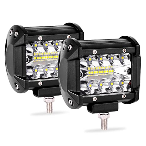 Amazon 2pcs 4 inch led light pods triple row led light bar spot 2pcs 4 inch led light pods triple row led light bar spot flood combo beam fog aloadofball Images